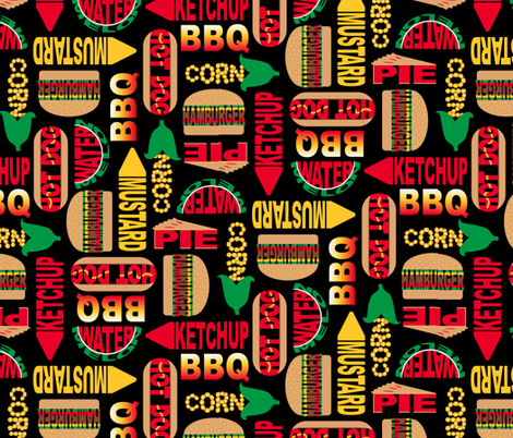 Backyard BBQ (Lg.) fabric by jjtrends on Spoonflower - custom fabric
