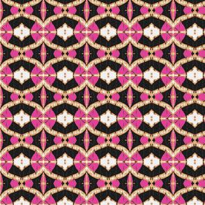 Usiku Siku 3 in Pink White & Burnt Umber