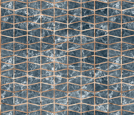 Copper grid on dark grey marble fabric by elevenmakes on Spoonflower - custom fabric