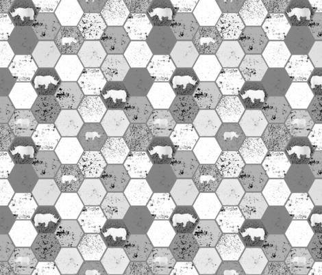 White Rhino Grunge Hex   fabric by lub_by_lamb on Spoonflower - custom fabric