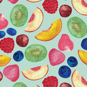 Summer Fruit Salad {Aqua}