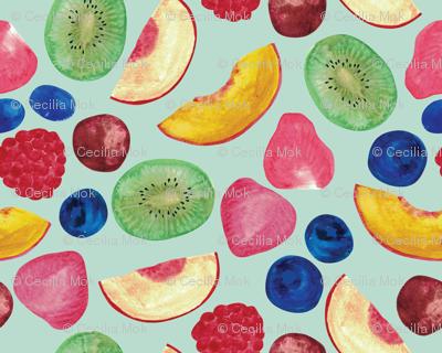 Summer Fruit Salad {Aqua}