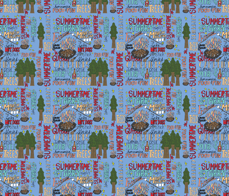 Summertime fabric by oceangirlcreativeco on Spoonflower - custom fabric
