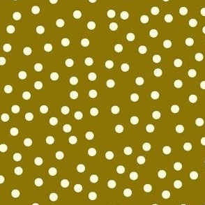 Twinkling Creamy Dots on Sweet Caramel - Large Scale