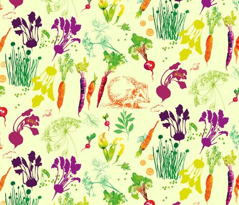 Veggie Garden Fun fabric by freudenwerkstatt on Spoonflower - custom fabric
