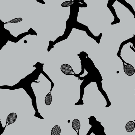 Women's Tennis - Light Grey // Large fabric by thinlinetextiles on Spoonflower - custom fabric