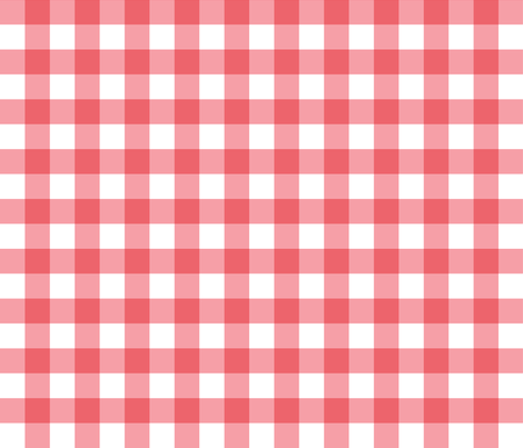 Gingham Picnic Check {Red and White} fabric by ceciliamok on Spoonflower - custom fabric