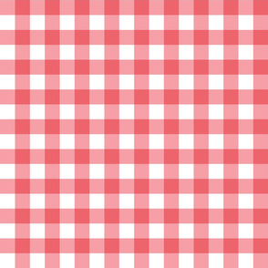 Gingham Picnic Check {Red and White}