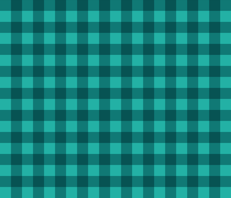 Gingham Picnic Check {Teal} fabric by ceciliamok on Spoonflower - custom fabric