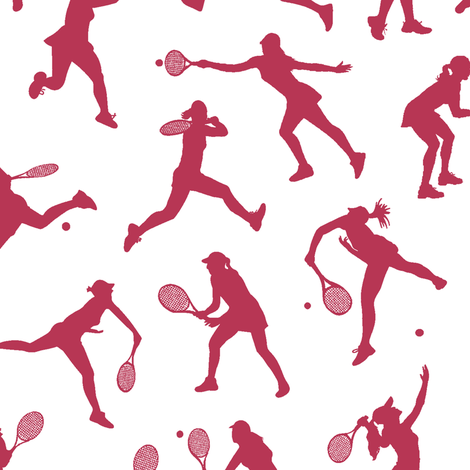 Women's Tennis - Magenta // Small fabric by thinlinetextiles on Spoonflower - custom fabric