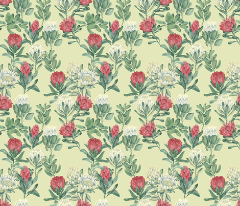 protea-may fabric by youdesignme on Spoonflower - custom fabric
