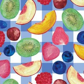 Summer Fruit Salad {Blue Picnic}