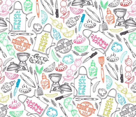 Summer Sizzle fabric by gingerlique on Spoonflower - custom fabric