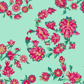 Mavi flowers (green background)