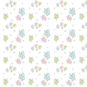 Spring flowers hearts - MED525 pastel