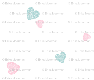 baby hearts - MED 525 pink mint