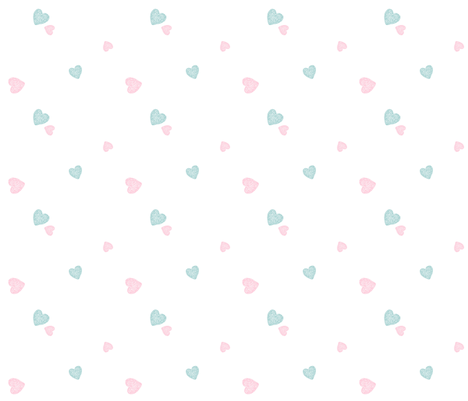 baby hearts - MED 525 pink mint fabric by drapestudio on Spoonflower - custom fabric