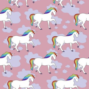 Rainbow Unicorns at Sunset / Cute toddler pattern / Hipster kids clothes