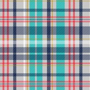Deck Chair Plaid - Grey Multi