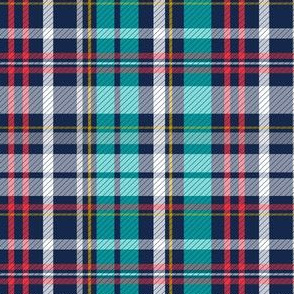 Deck Chair Plaid - Navy Blue Multi