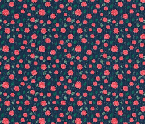 Pom Flowers Summer fabric by lemonlovegood on Spoonflower - custom fabric