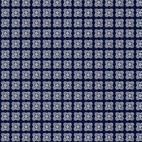 Ornate-Dk Blue