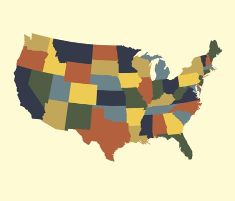 Continental U.S. - bayeux colors fabric by weavingmajor on Spoonflower - custom fabric