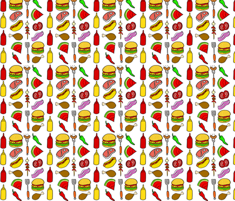 Cookout BBQ fabric by antonybriggs on Spoonflower - custom fabric