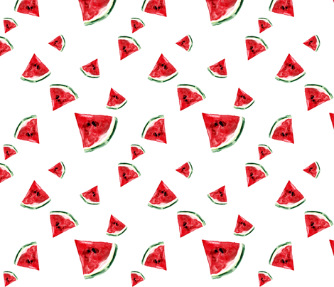 watercolormelon fabric by holly_perona_ on Spoonflower - custom fabric