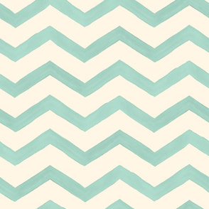 Aqua Watercolor Chevron