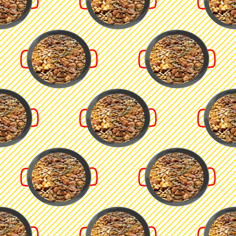 Spanish BBQ Paella Valencia Style fabric by pimento on Spoonflower - custom fabric