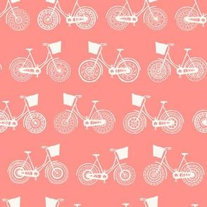Doodle bicycle wheels - orange