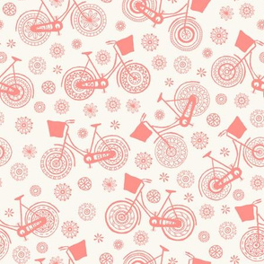 Flower power bicycles - orange