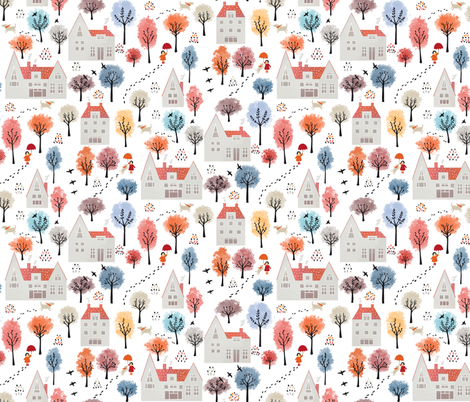 Countryside fabric by elena_naylor on Spoonflower - custom fabric