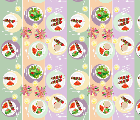 Summer Cookout Tabletop fabric by shapeshifter_studios on Spoonflower - custom fabric