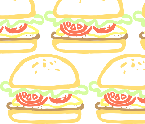 Big Burger fabric by ae_fresia on Spoonflower - custom fabric