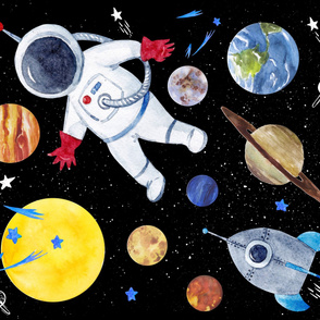 """56""""x36"""" Out of this World Astronaut"""