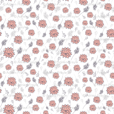 Pom Flowers Pink