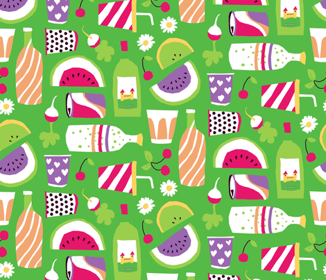 drinks and fruits fabric by lisahilda on Spoonflower - custom fabric