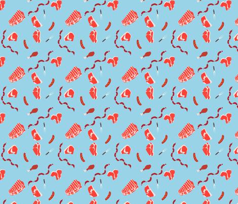 meat galore fabric by nakayuki on Spoonflower - custom fabric