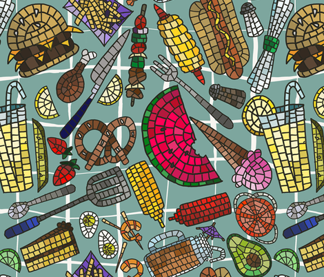 Yummy Treats to Eat fabric by jacquelynbizzottodesign on Spoonflower - custom fabric