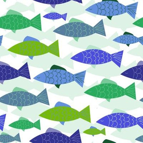 School of Fish - Blue-Green