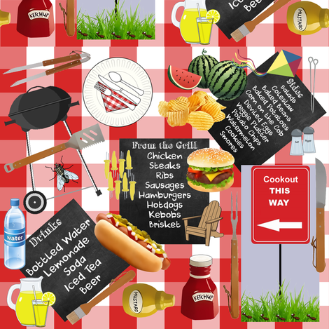 CookoutChaos fabric by hanging_by_a_string on Spoonflower - custom fabric