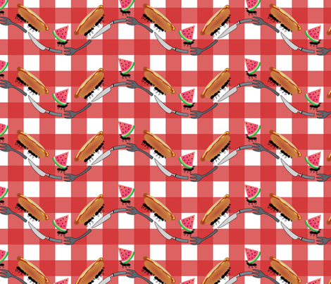 Ant'sPicnic_Sandpipergfx fabric by sandpipergfx on Spoonflower - custom fabric