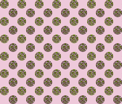 Flowers and Peace on Pink fabric by twigsandblossoms on Spoonflower - custom fabric