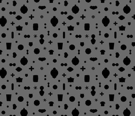 Tutto pop - grey/black fabric by cinneworthington on Spoonflower - custom fabric