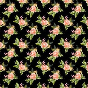 "1.5"" Ellie Florals - Black"