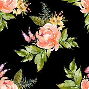 "21"" Ellie Florals - Black"