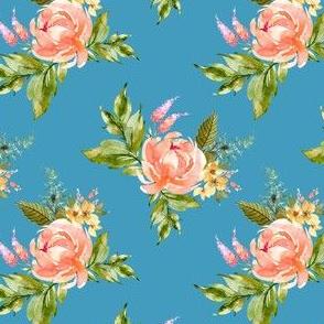 "4"" Ellie Florals - Bright Blue"