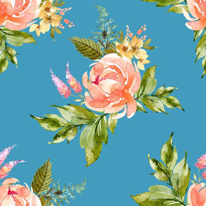 "21"" Ellie Florals - Bright Blue"